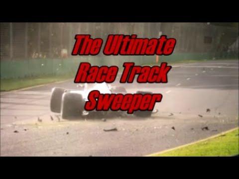 Formula One race track sweeper